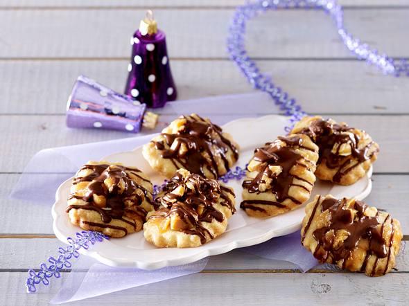 Karamell-Shortbread mit Schokolade Rezept