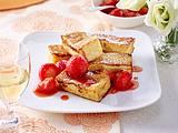 Karamellisiertes Brioche mit Erdbeeren Rezept
