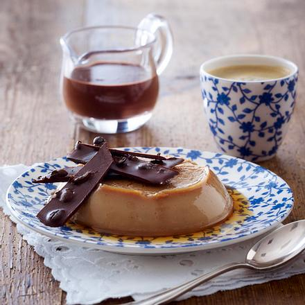 Karamellpudding mit Espressosoße Rezept
