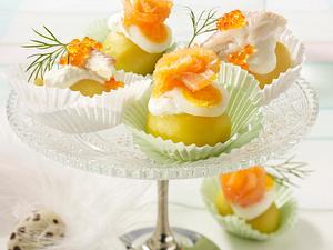 Kartöffelchen mit Lachs und Kaviar Rezept