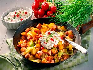Kartoffel-Fleischwurst-Pfanne Rezept
