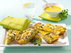 Kartoffel-Gemüse-Frittata mit Aioli Rezept