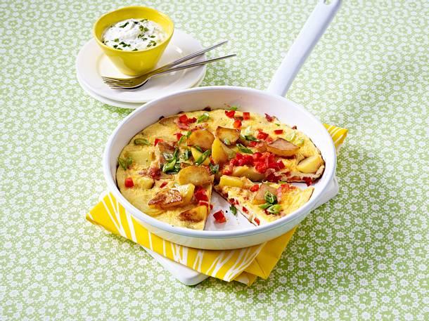 Kartoffel-Gemüse-Omelett Rezept