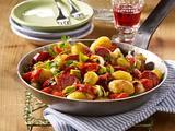 Kartoffel-Gemüse-Pfanne mit Cabanossi Rezept