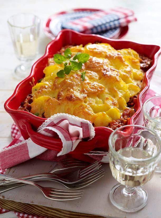 Kartoffel-Gratin a la Bolognese Rezept