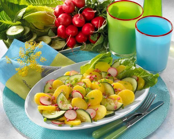 Kartoffel-Gurkensalat Rezept