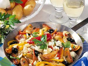 Kartoffel-Gyros mit Feta Rezept