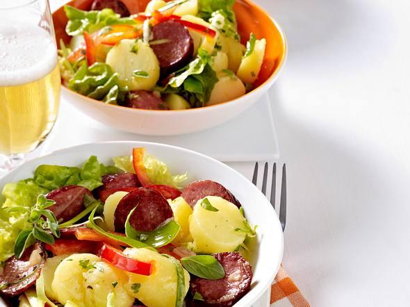 Kartoffel-Kabanossi-Salat Rezept