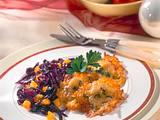 Kartoffel-Käsefritter mit Rotkohl Rezept