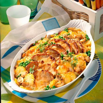 Kartoffel-Kotelett-Auflauf Rezept