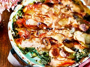 Kartoffel-Lachs-Gratin Rezept