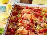 Kartoffel- Lachs-Gratin mit Dillsahne Rezept