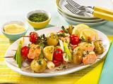 Kartoffel-Lachs-Spieße Rezept