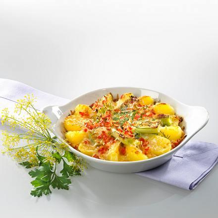 Kartoffel-Lauchauflauf Rezept