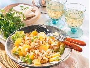 Kartoffel-Linsen-Salat mit Feta Rezept