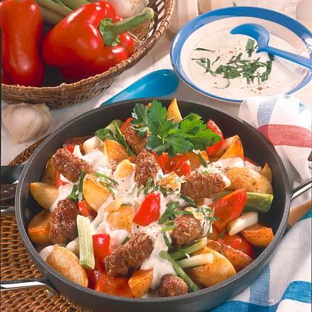 Kartoffel-Mini-Cevapcici-Pfanne Rezept