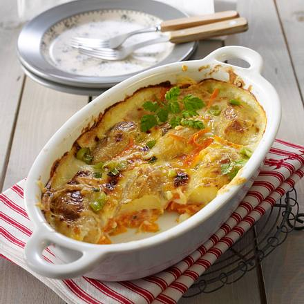 Kartoffel-Möhren-Gratin Rezept