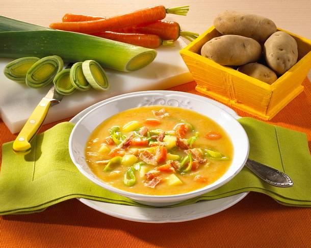 Kartoffel-Möhren-Lauch-Suppe Rezept