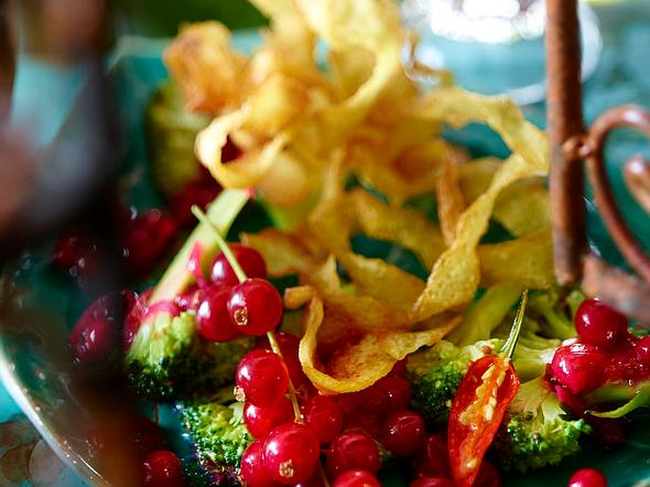 Kartoffel-Nester mit Johannisbeer-Ingwer-Chutney Rezept