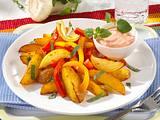 Kartoffel-Paprika-Pfanne mit Paprika-Quark (Diabetiker) Rezept