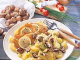 Kartoffel-Pilz-Salat mit Schnitzeln Rezept