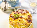 Kartoffel-Quark-Auflauf mit Schnittlauchsoße Rezept