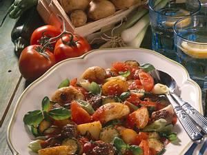 Kartoffel-Ratatouille mit Hackbällchen Rezept
