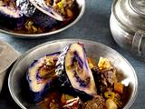 Kartoffel-Rotkohl-Schnecke mit Preiselbeeren Rezept