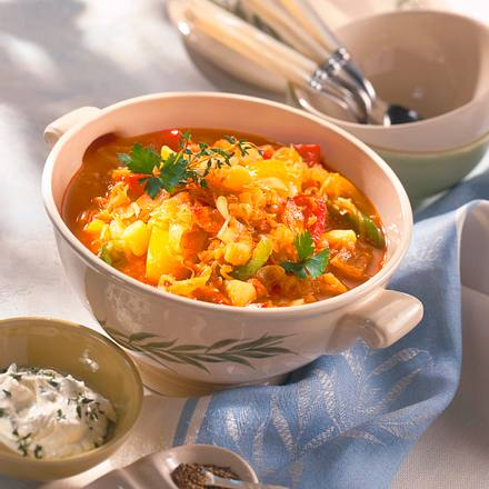 Kartoffel-Sauerkrautgulasch Rezept
