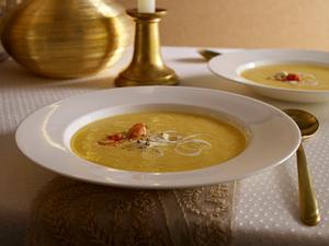 Kartoffel-Schaumcreme-Suppe mit Flusskrebsen Rezept