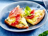 Kartoffel-Schinken-Flammkuchen Rezept