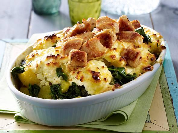 Kartoffel-Spinat-Gratin Rezept