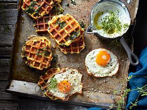 Kartoffel-Spinat-Stärkung aus dem Waffeleisen Rezept