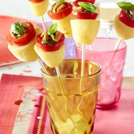 Kartoffel-Tomaten-Spieße Rezept