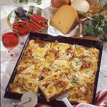 Kartoffel-Zwiebel-Pizza Rezept