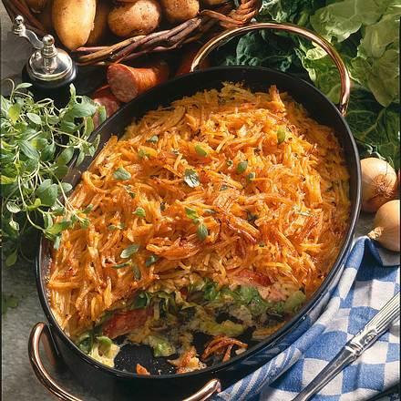 Kartoffelauflauf mit Wirsingkohl Rezept