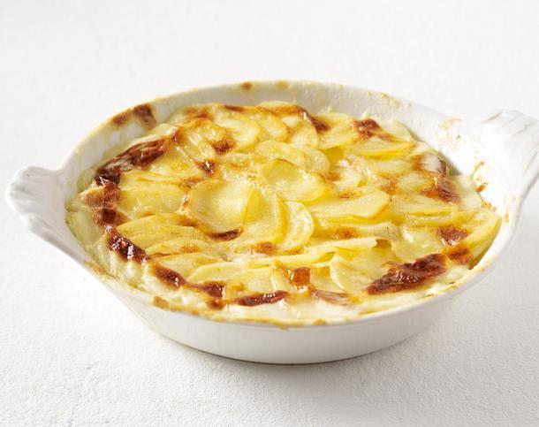 Kartoffelbeilagen aus rohen Kartoffeln: Kartoffelgratin Rezept