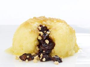 Kartoffelknödel mit Speck und Apfel Rezept