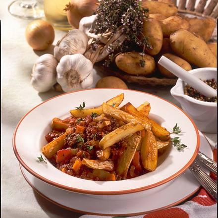 Kartoffeln à la Bolognese Rezept