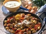 Kartoffelpfanne mit Champignons, Schalotten und Speck Rezept