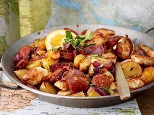 Kartoffelpfanne mit Hähnchen Rezept
