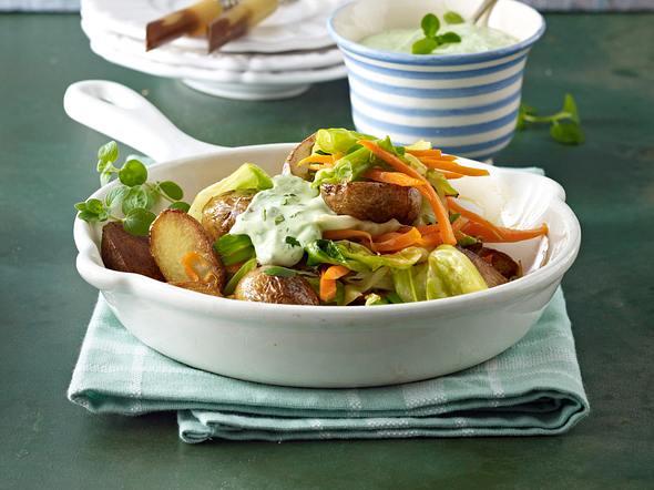 Kartoffelpfanne mit Kräutersoße Rezept