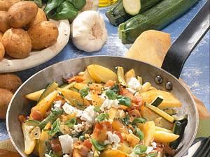 Kartoffelpfanne mit Schafskäse Rezept