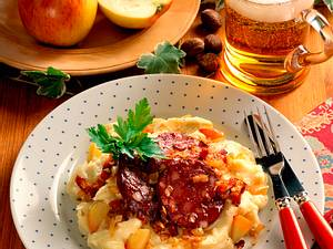Kartoffelpüree mit Blutwurst Rezept