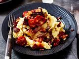 Kartoffelpüree mit Speck und Zwiebeln  Rezept