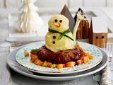 Kartoffelpüree-Schneemann Rezept