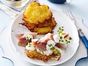Kartoffelpuffer nach Hausfrauen Art Rezept