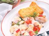Kartoffelrösti mit Fischgulasch Rezept