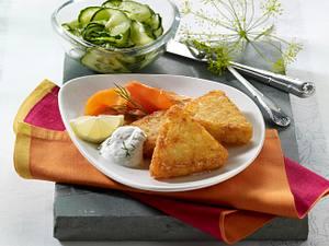 Kartoffelrösti mit Lachs und Kräuterquark Rezept