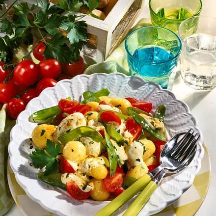 Kartoffelsalat mit Currycreme Rezept